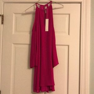 NWT Amanda Uprichard Silk Cold Shoulder Dress S